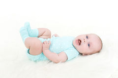 2 meses bonitos felizes do bebê Fotos de Stock Royalty Free