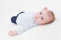 3 meses de bebé Imágenes de archivo libres de regalías