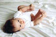 4 meses de bebê idoso Fotografia de Stock Royalty Free