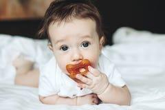 4 meses de bebê idoso Fotografia de Stock