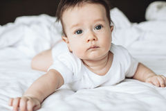 4 meses de bebê idoso Imagens de Stock