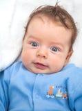 2 meses de bebê idoso em casa Imagens de Stock Royalty Free
