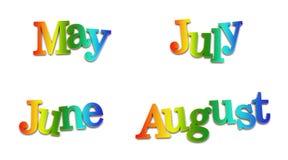 Meses de calendário Fotos de Stock