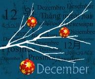 Meses de concepto diciembre Fotos de archivo libres de regalías