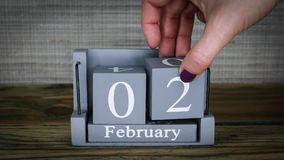 02 meses de fevereiro do calendário video estoque