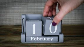 10 meses de fevereiro do calendário vídeos de arquivo
