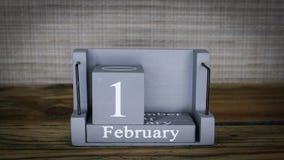 16 meses de fevereiro do calendário video estoque