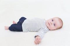 3 meses hermosos de bebé Imagen de archivo