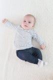 3 meses lindos de bebé Foto de archivo libre de regalías