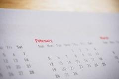 Meses y fechas en Año Nuevo del calendario Fotografía de archivo libre de regalías