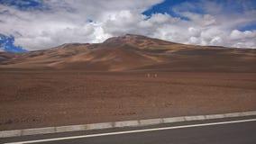 Meseta chilena - sal de Ascotan plana Foto de archivo libre de regalías