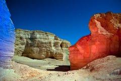 Desierto de Judean en la noche. imagen de archivo libre de regalías