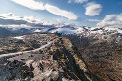 Meseta de la montaña de Dalsnibba Imagenes de archivo