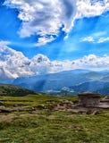 Meseta de las montañas de Bucegi Imagenes de archivo