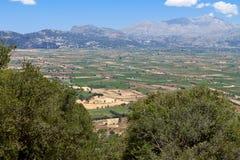 Meseta de Lasithi en la isla de Crete fotografía de archivo libre de regalías