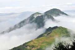 Meseta de niebla en la montaña de Kaçkar, Rize Imagen de archivo
