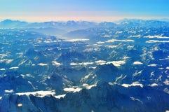 Meseta de Qinghai-Tíbet de la visión aérea Imagen de archivo