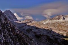 Meseta de Zugspitze en otoño foto de archivo