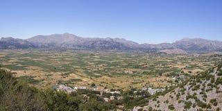 Meseta mediterránea Lasithi de Creta Imagen de archivo libre de regalías