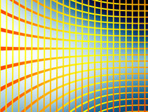 Mesh. Orange and yellow mesh over  blue background Royalty Free Stock Photography