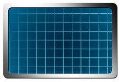 Mesh. Blue mesh with chrome frame. isolated illustration Stock Image