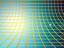 Mesh. Range and yellow mesh over  blue background Royalty Free Stock Image