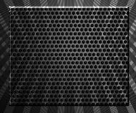 Mesh. Metallic mesh over striped background. abstract illustration Royalty Free Stock Photos