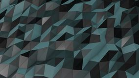 Mesh Abstract Low Poly Background scuro illustrazione di stock