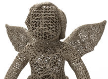Mesh angel statue concept Stock Photos