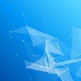 Mesh Background abstracto azul con los círculos, líneas Fotos de archivo