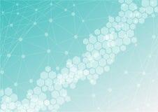 Mesh Background abstrait avec l'hexagone, les lignes et les formes Photo libre de droits