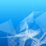 Mesh Background abstrato azul com círculos, linhas Fotos de Stock Royalty Free