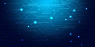 Mesh Background abstrato azul - os círculos, as linhas e as formas da mitigação illusrtated Fotografia de Stock