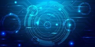 Mesh Background abstrato azul - os círculos, bolhas illusrtated Imagens de Stock