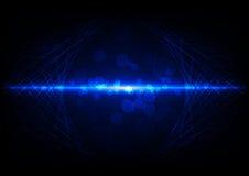 Mesh Background astratto blu con il fondo dei cerchi Immagine Stock