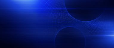 Mesh Banner bleu rougeoyant Photographie stock