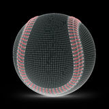 Mesh of baseball Stock Image