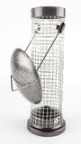 Mesh Bird Feeder vide, d'isolement photos stock