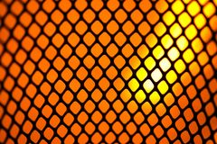 Mesh Black on similar orange flame Royalty Free Stock Images