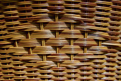 Mesh of branches. Hand woven basket from a tree branch, known as Weeping Willow - detail Stock Photos
