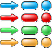 Mesh buttons Royalty Free Stock Photo