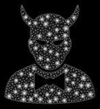 Mesh Carcass Devil brillante con los puntos de la llamarada libre illustration