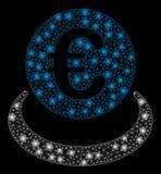 Mesh Carcass Euro Deposit intelligent avec les taches instantanées illustration libre de droits