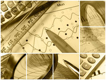Mesh collage (sepia) Stock Images