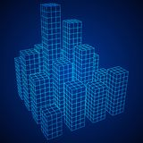 Mesh Cubes City Array Lizenzfreie Stockbilder
