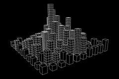 Mesh Cubes City Array Lizenzfreies Stockfoto