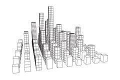 Mesh Cubes City Array Stockbild