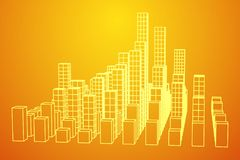 Mesh Cubes City Array Arkivbilder