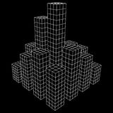 Mesh Cubes City Array Royalty Free Stock Image