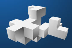 Mesh Cubes-Element Stockfotos